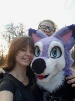 Selfie with a Wolf by BlueWaterRose