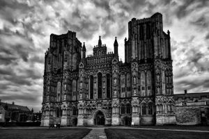 Wells Cathedral Mono by CharmingPhotography