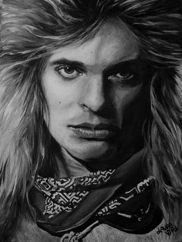 David Lee Roth painting by Laura10June
