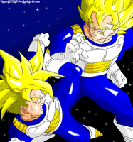 Goku and Gohan Training CLD by JamalC157