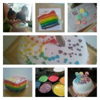 More rainbow cake by shults