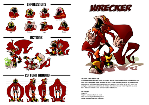 Character Design: Wrecker by 7-Days-Luck