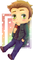 Dean.. Where's the Pie? [Dean Winchester Chibi] by Cassy007