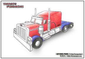 TF - OPTIMUS PRIME : Two-Point Perspective by CHOBI-PHO