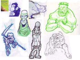 school sketches by robiant