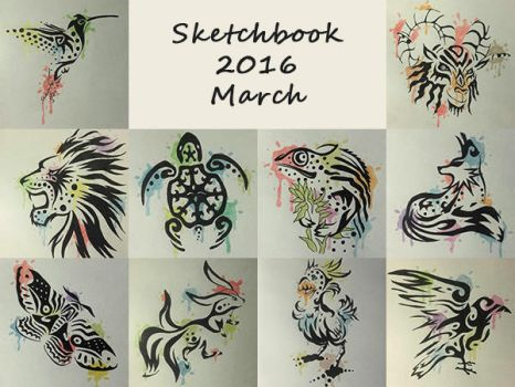 Sketchbook 2016 - March by Charmyto
