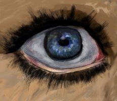 Eye Digital Painting by KateJones92