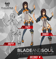 005 MF Blade and Soul Process by tsaileehua
