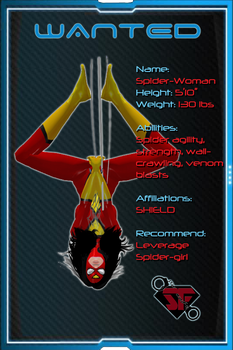 Shadowfall Preview - Captured: Spider-Woman by Centrilia
