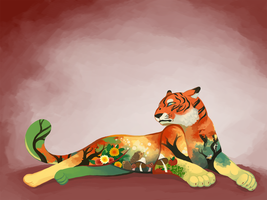 Autumn Tiger by Mazzlebee