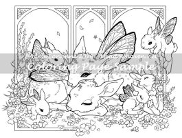 Art of Meadowhaven Coloring Page: Clover Morning by Saimain