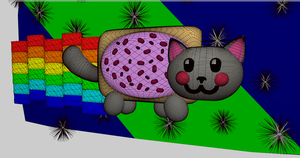 3D Nyan Cat by sophatizer