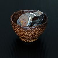 TITANIUM TIME AND COCONUT WOOD by martiuk