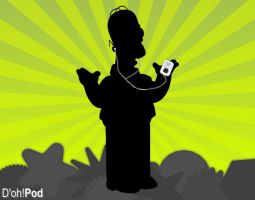 Ipod Commercial, Simpson Style by Mman6460