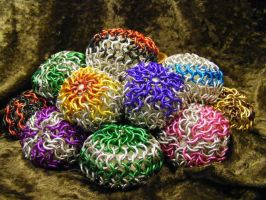 Chainmail Ball Collections by BacktoEarthCreations