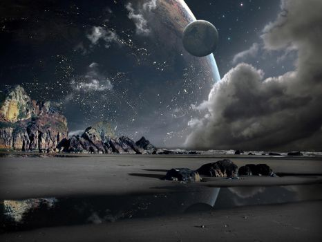 Beach at another planet by mohd-izzuddin