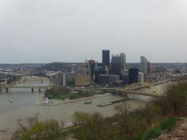 Pittsburgh From Mt. Washington by EclipsePegasus