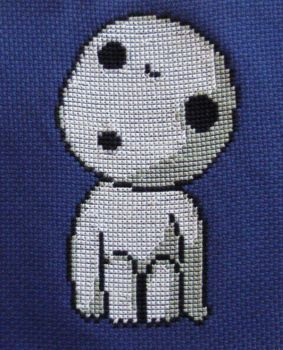 Kodama cross stitch by Awenmir