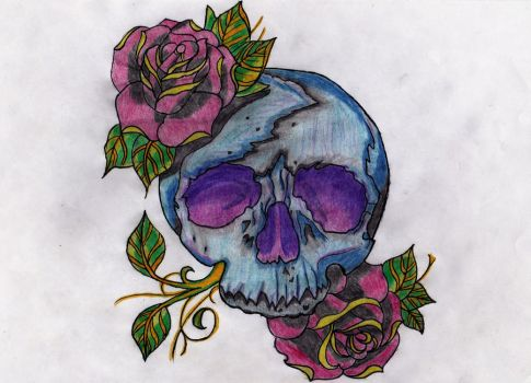 Rose-Skull by Fiddy90