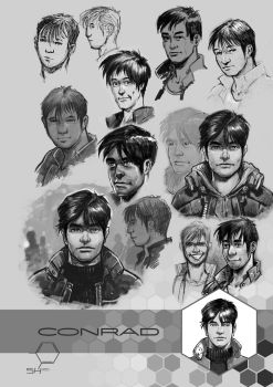SH Concept Art: Conrad by TheInkPages
