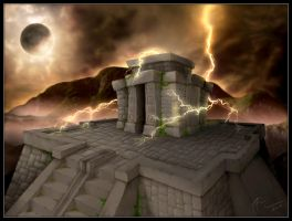 The Aztec Temple by geci