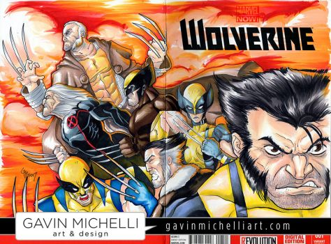 Wolverine Sketch Cover by GavinMichelli