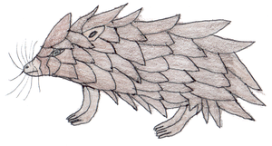 Scaly stone hamster monster by Planetofmonsters