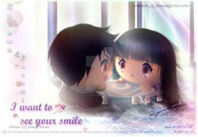 I Want to See your Smile by Kauthar-Sharbini