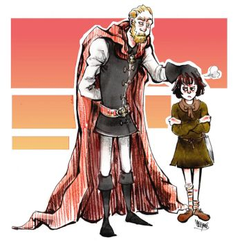 Tywin Lannister and Arya Stark by Worgue