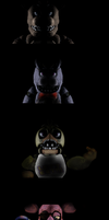 FNAF 1.5-un-withered animatronics-full upper body by Giorgiathefox