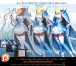 Fantasy Winter Dress steps tutorial pack.Promo. by sakimichan