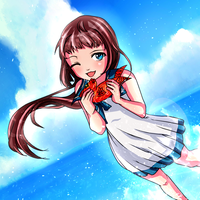 (Collab) Summer Time! - Manaka Mukaido (Coloring) by CatalystAristarkh