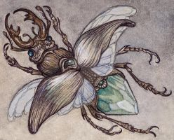 Crystal Stag Beetle by CaitlinHackett