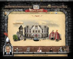 """Town"" page in browser game by Vadich"