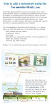 How to add watermark w. Picnik by meihua