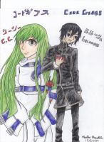 Lelouch and C.C. by naydeity