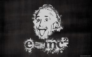 Einstein Stencil Wallpaper by kcaudesign