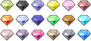 Dream World-like Gem sprites by LDEJRuff