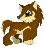 Ami as a wolf pup! by inuyasha231