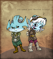 LoL Rumble and Tristana by Freaky--Panda