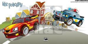 The cars chase by markishmytie