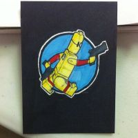 Lego Scud the Disposable Assassin sketchcard by thesometimers
