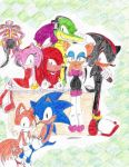 Human Sonic comic backcover by SammySmall