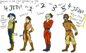 KotOR: 4 Jedi by surfersquid