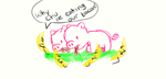 Two Headed Pig Eating Bacon... by XxLovelyDreamer13xX