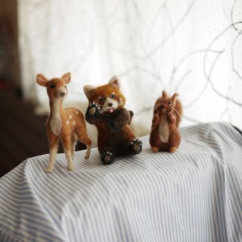 Red Panda and Friends by doily
