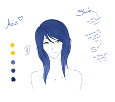 Aziz Headshot Reference Sheet by myfriends-nobody