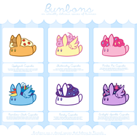 Bunbon Adoptables - Set 5 *THEMED SET* - CLOSED by Kiwicide