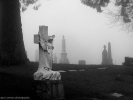 Foggy Calvary Cemetery by worldtravel04