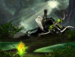 Altherius saving the wolf puppy by KrisFeanor